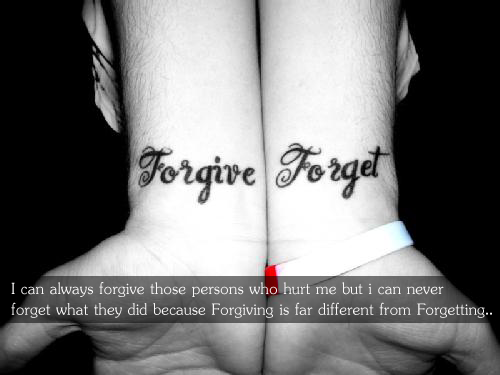I Can Always Forgive Those Persons Who Hurt…