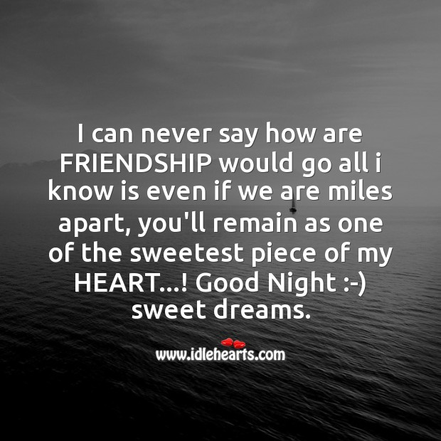 I can never say how are friendship Image