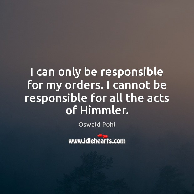 I can only be responsible for my orders. I cannot be responsible Image