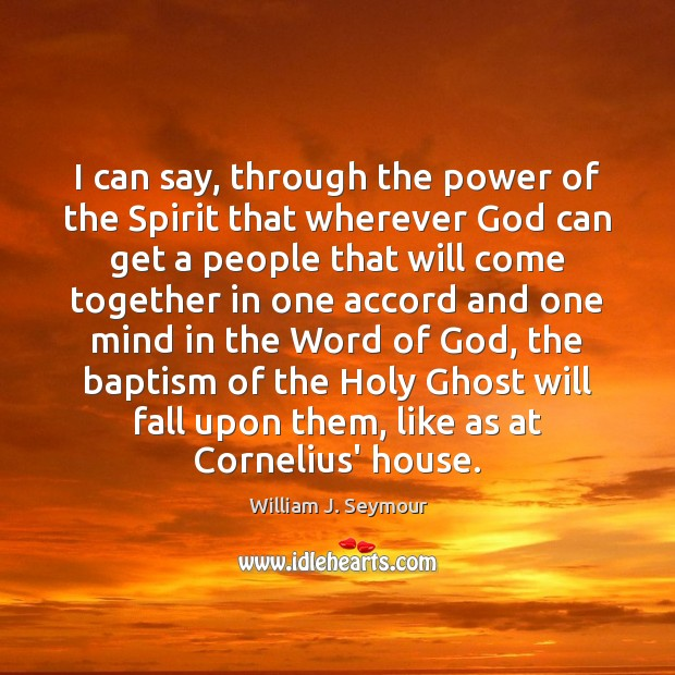 I can say, through the power of the Spirit that wherever God Image