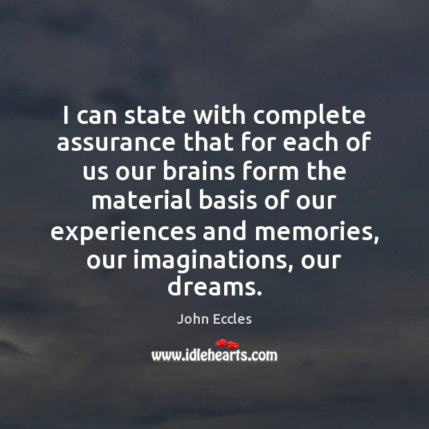 I can state with complete assurance that for each of us our Image