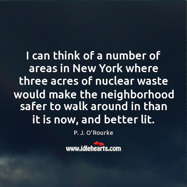 I can think of a number of areas in New York where Image