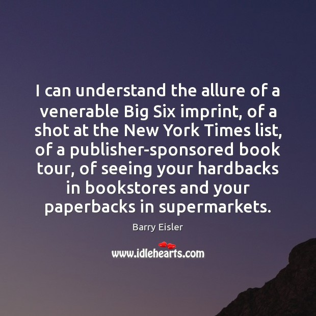 Image, I can understand the allure of a venerable Big Six imprint, of
