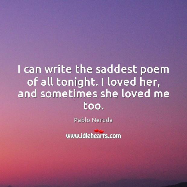 tonight i can write the saddest