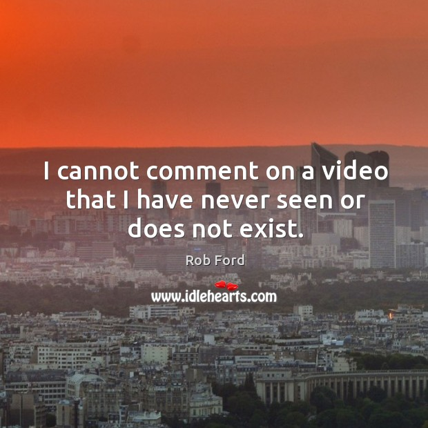 I cannot comment on a video that I have never seen or does not exist. Image