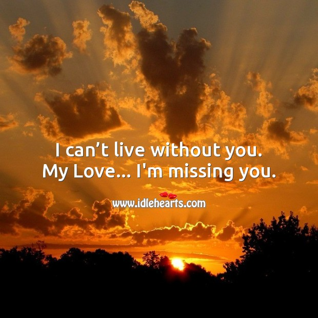 Image, I can't live without you.