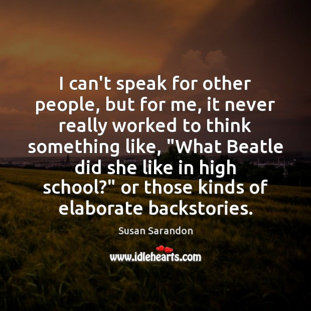 I can't speak for other people, but for me, it never really Image