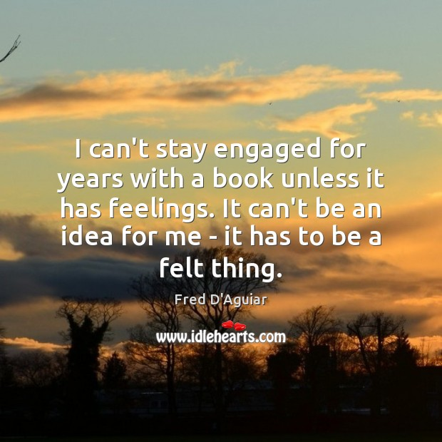 I can't stay engaged for years with a book unless it has Image