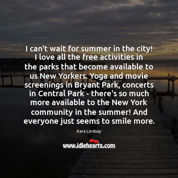 Image, I can't wait for summer in the city! I love all the