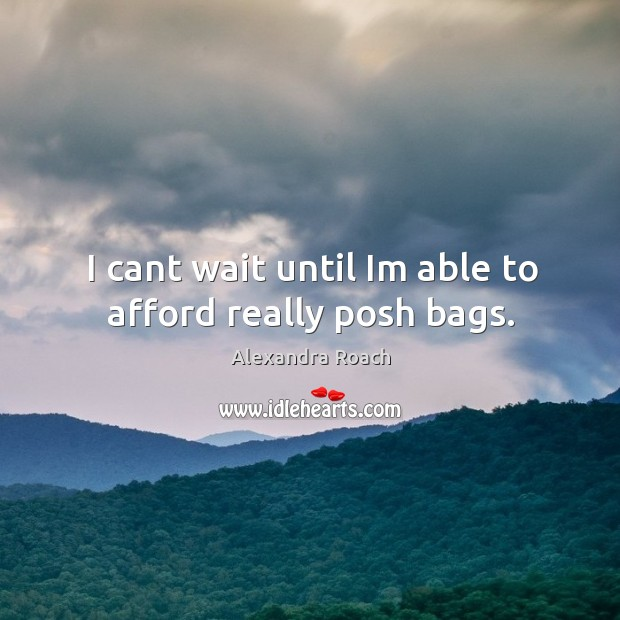 Image, I cant wait until Im able to afford really posh bags.