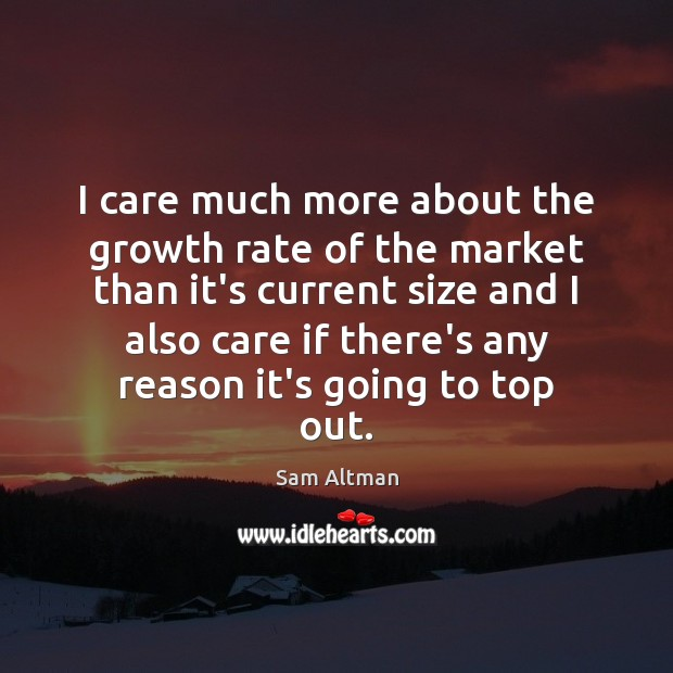 I care much more about the growth rate of the market than Image