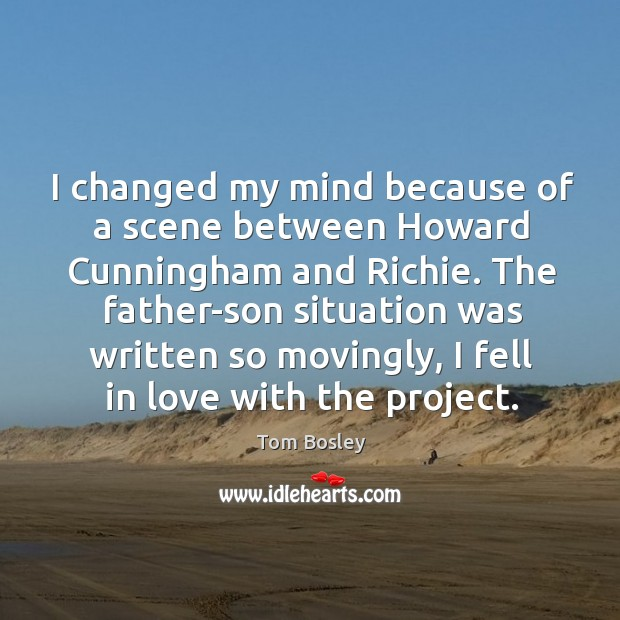 I changed my mind because of a scene between howard cunningham and richie. Image
