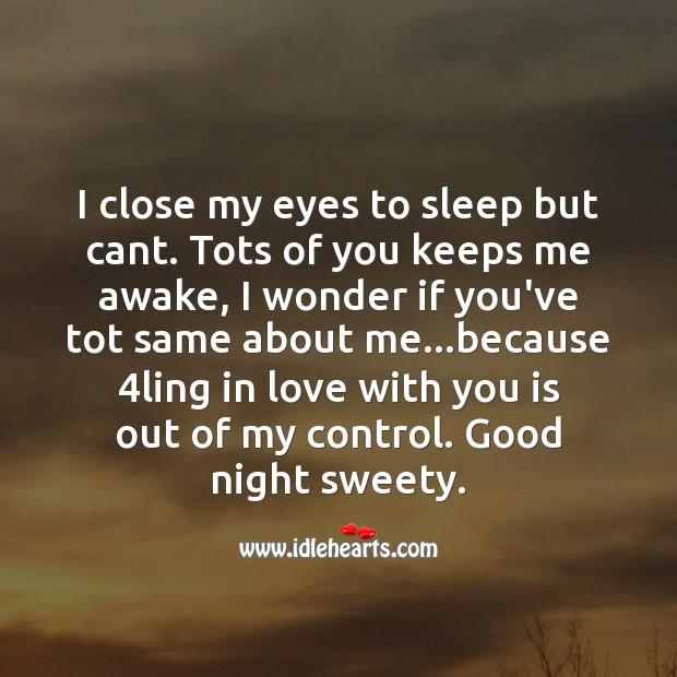 I close my eyes to sleep but cant. Image