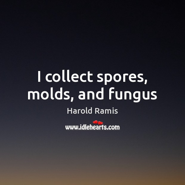 I collect spores, molds, and fungus Image