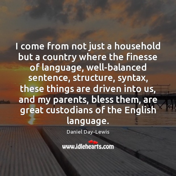 I come from not just a household but a country where the Image