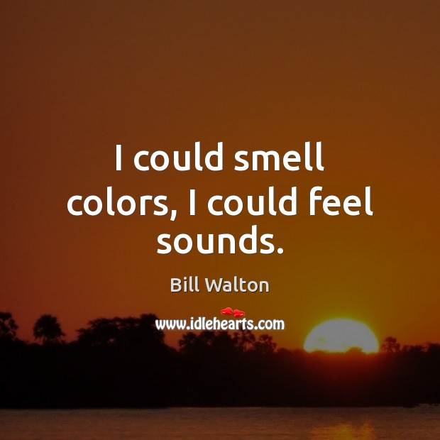 I could smell colors, I could feel sounds. Image