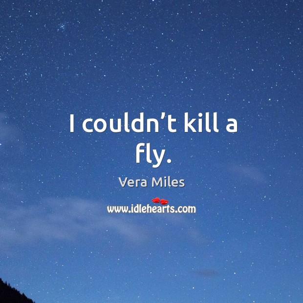 I couldn't kill a fly. Image