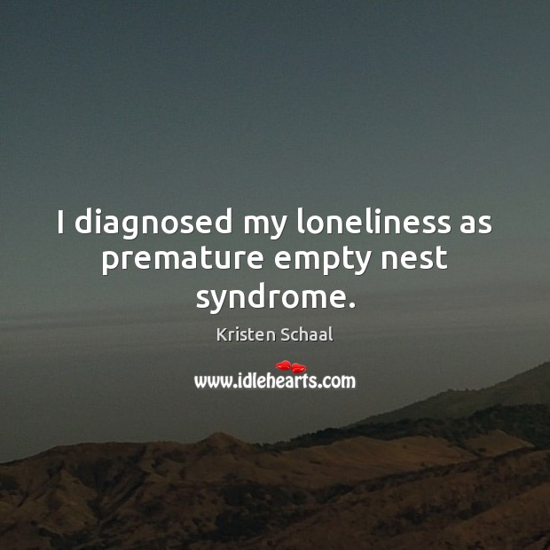 I diagnosed my loneliness as premature empty nest syndrome. Image