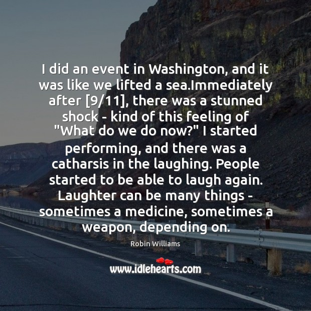 I did an event in Washington, and it was like we lifted Image