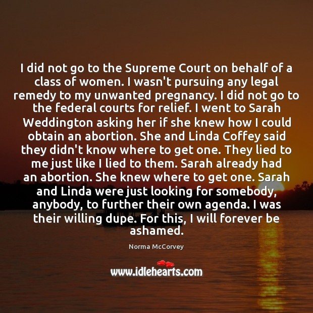 Image, I did not go to the Supreme Court on behalf of a