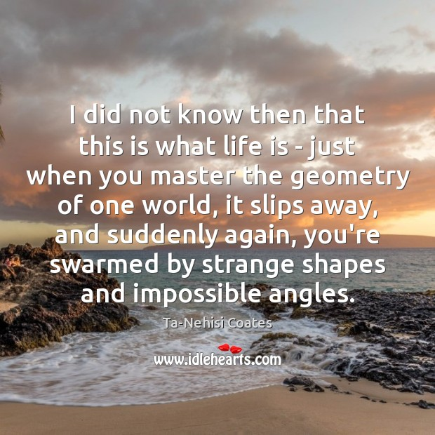 I did not know then that this is what life is – Image