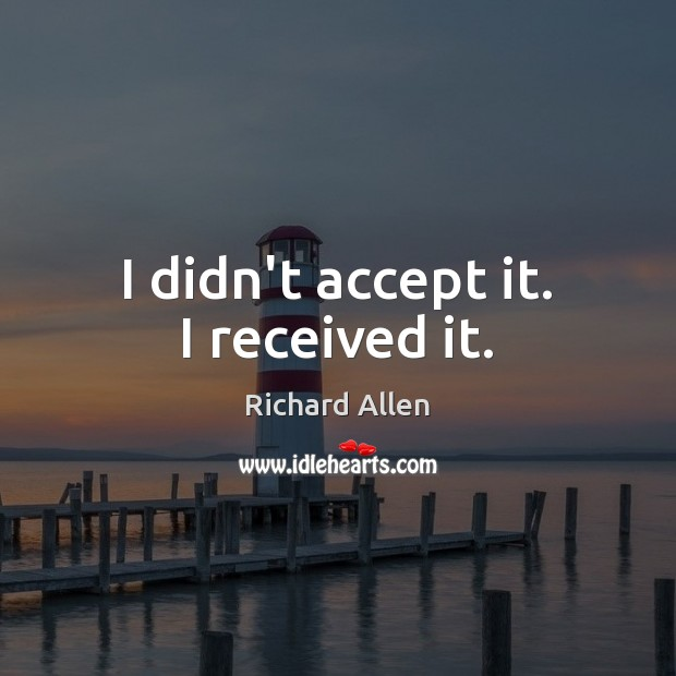 Picture Quote by Richard Allen
