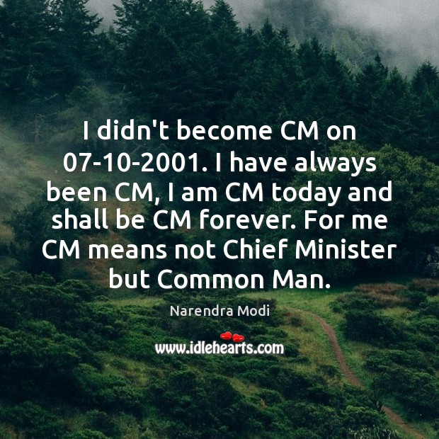 I didn't become CM on 07-10-2001. I have always been CM, Image