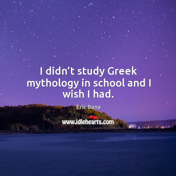 I didn't study greek mythology in school and I wish I had. Image