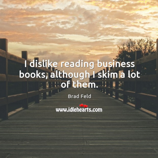 Image, I dislike reading business books, although I skim a lot of them.