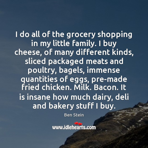 Image, I do all of the grocery shopping in my little family. I