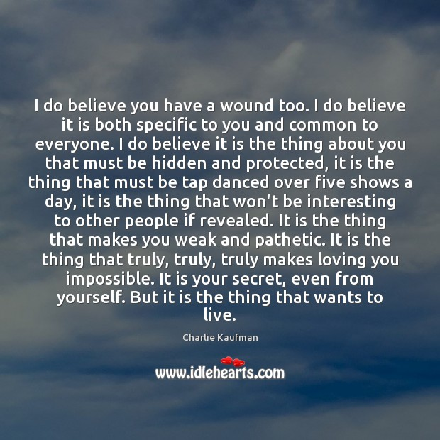 Image, I do believe you have a wound too. I do believe it