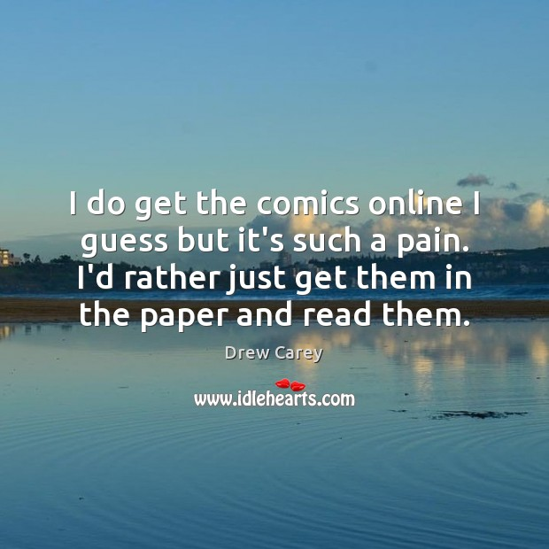 Image about I do get the comics online I guess but it's such a