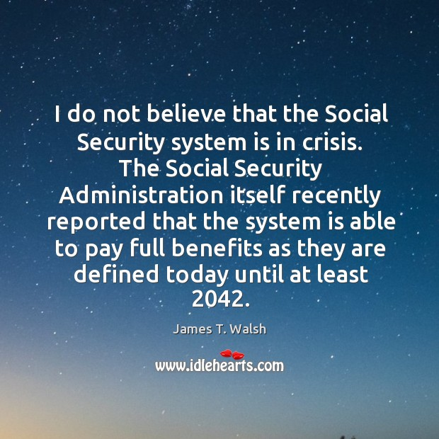 the social security crisis Social security, which is arguably the most important program in the government's portfolio of spending is in crisis does the problem with social security lay.