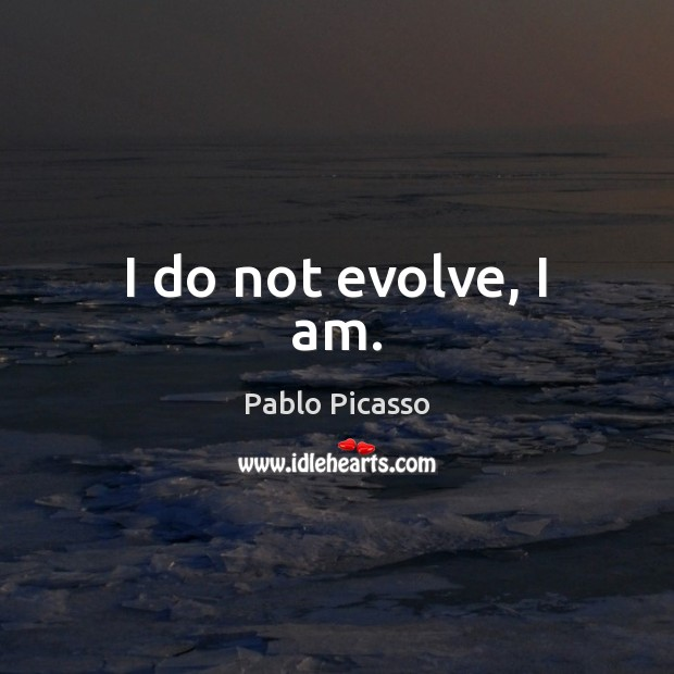 Image, I do not evolve, I am.