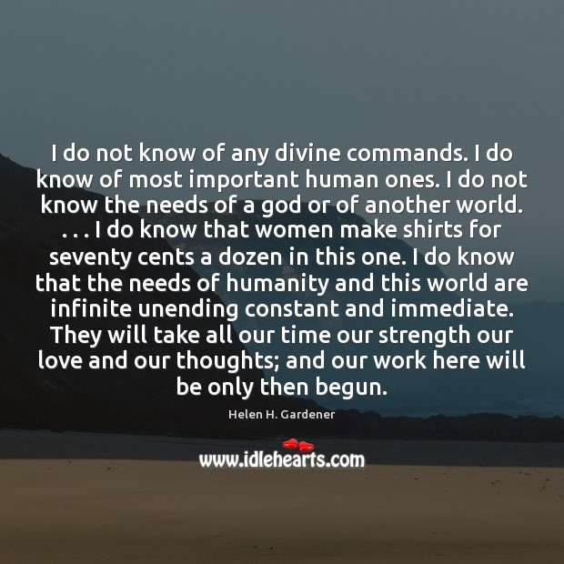 I do not know of any divine commands. I do know of Image