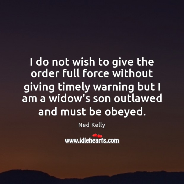 I do not wish to give the order full force without giving Image