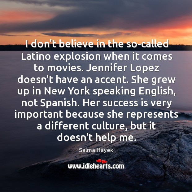 Image about I don't believe in the so-called Latino explosion when it comes to