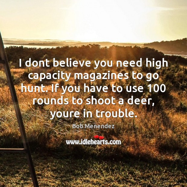 Image, I dont believe you need high capacity magazines to go hunt. If