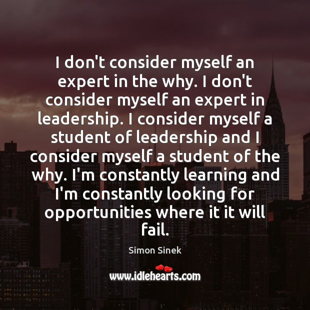 I don't consider myself an expert in the why. I don't consider Image