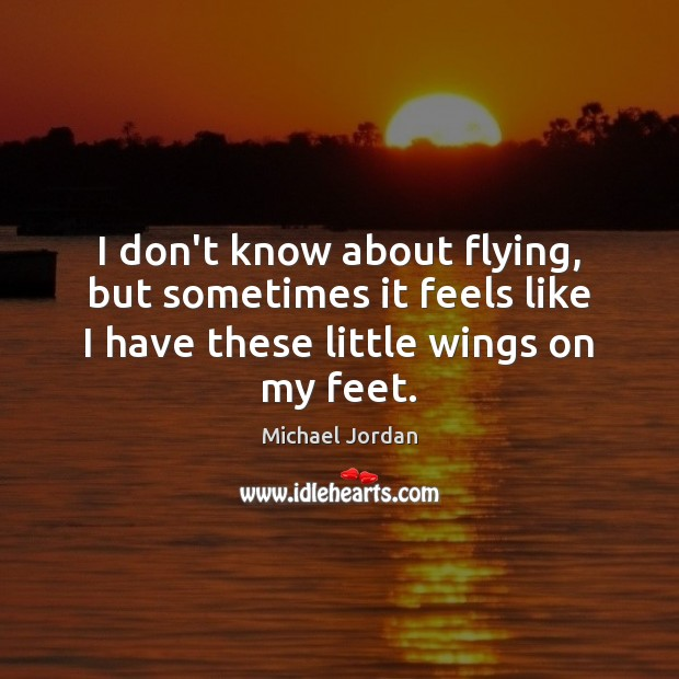 Image, I don't know about flying, but sometimes it feels like I have