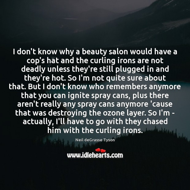 Image, I don't know why a beauty salon would have a cop's hat