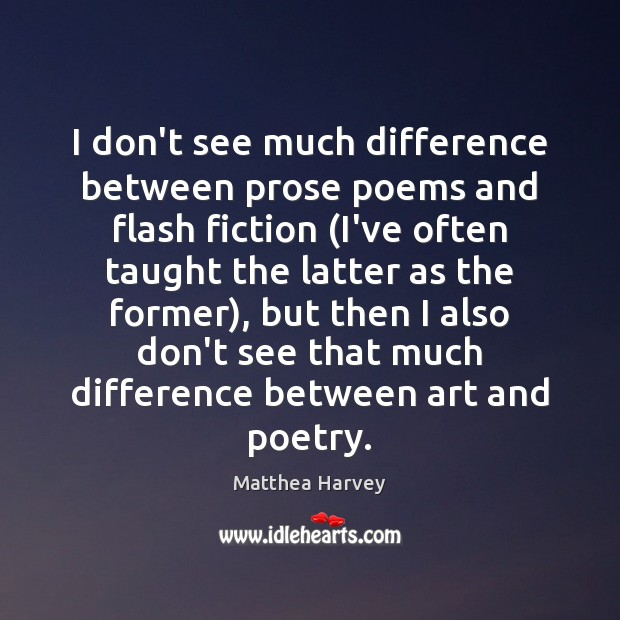 I don't see much difference between prose poems and flash fiction (I've Image