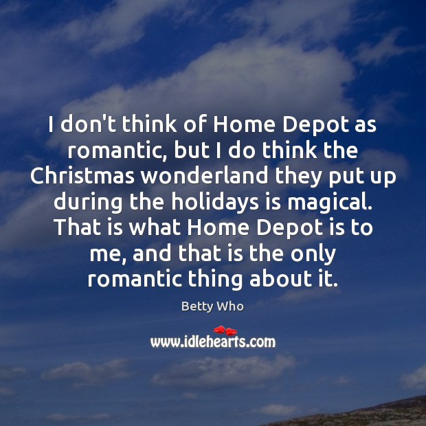 I don't think of Home Depot as romantic, but I do think Christmas Quotes Image