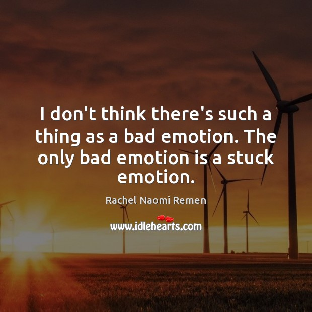 I don't think there's such a thing as a bad emotion. The Image
