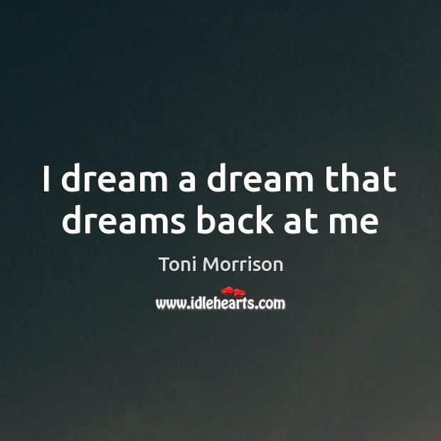 I dream a dream that dreams back at me Image