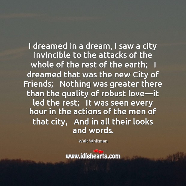 I dreamed in a dream, I saw a city invincible to the Image