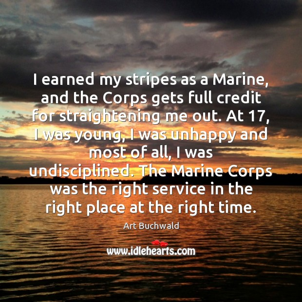 Image, I earned my stripes as a Marine, and the Corps gets full