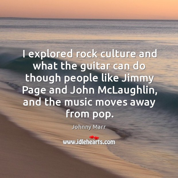Image, I explored rock culture and what the guitar can do though people