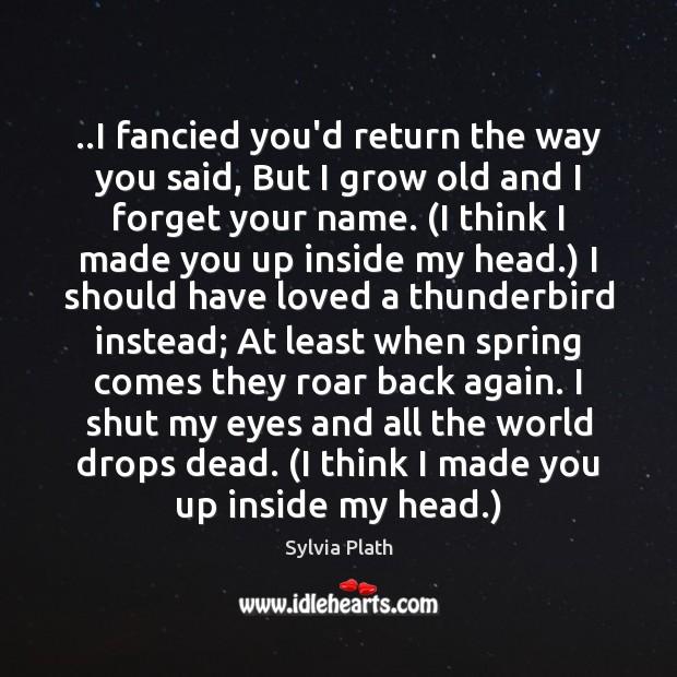 Image, ..I fancied you'd return the way you said, But I grow old