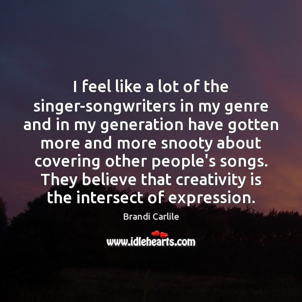 Image, I feel like a lot of the singer-songwriters in my genre and